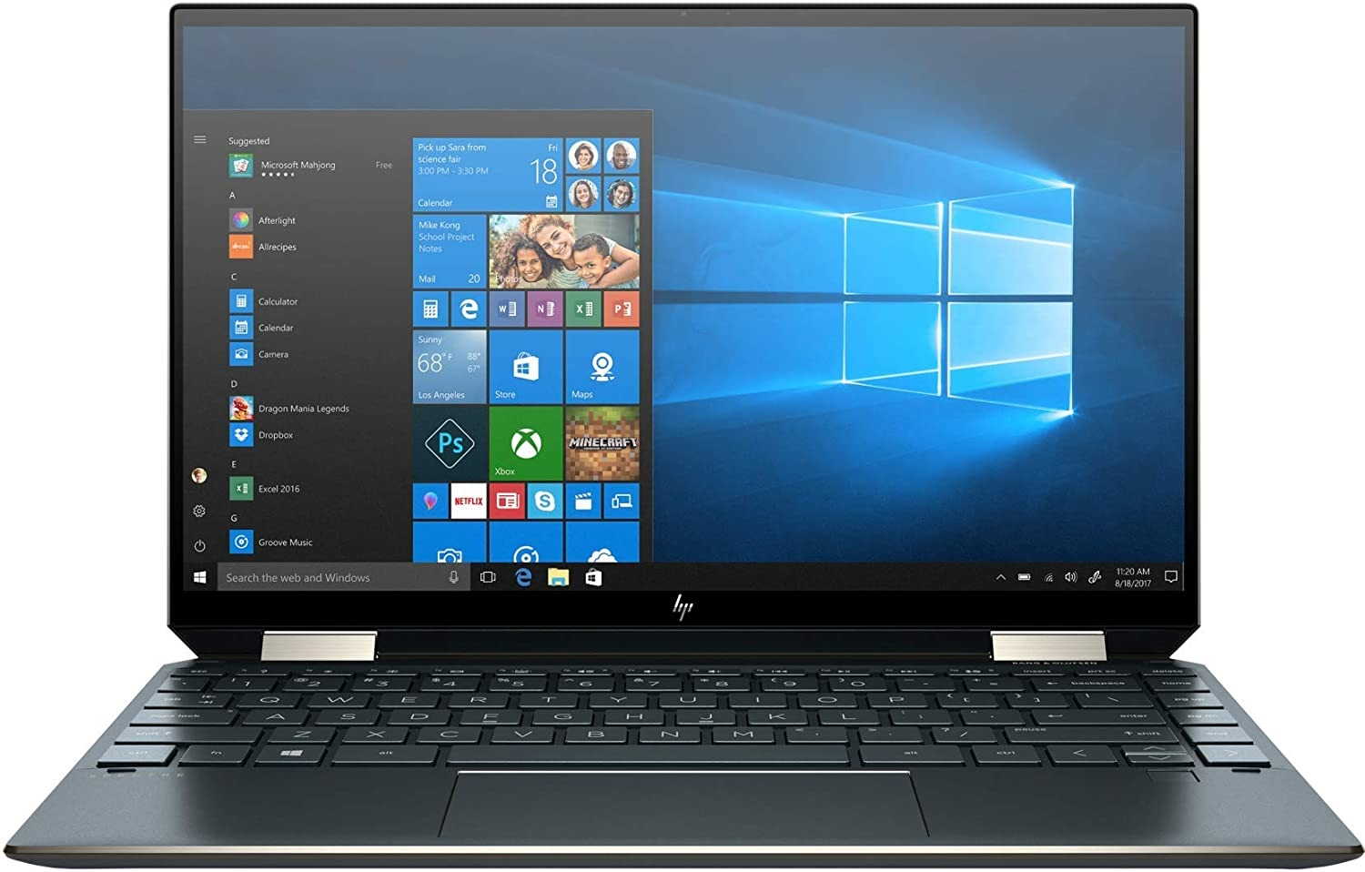 HP Spectre X360 13t 2020 model Touch screen, Natural silver, Nightfall Black, Poseidon Blue