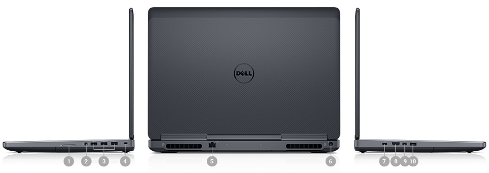 Dell Precision M7520 Core i7-7700HQ | i7-7820HQ VGA NVIDIA Quadro M1200 | M2200 Windows 10 Pro