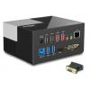 Wavlink USB 3.0 Universal Dual Display Docking Station Support HDMI & DVI/ VGA with 6 USB Ports