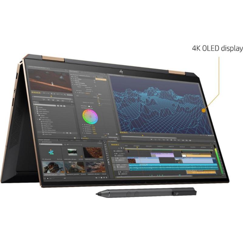 "HP Spectre x360 2-in-1 13.3"" Dark ash, Poseidon Blue color, (Gem Cut)"