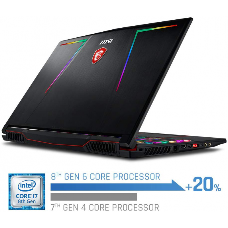 MSI GE63 Raider RGB Gaming Core i7-8750H |  Core i7-9750H, Windows 10