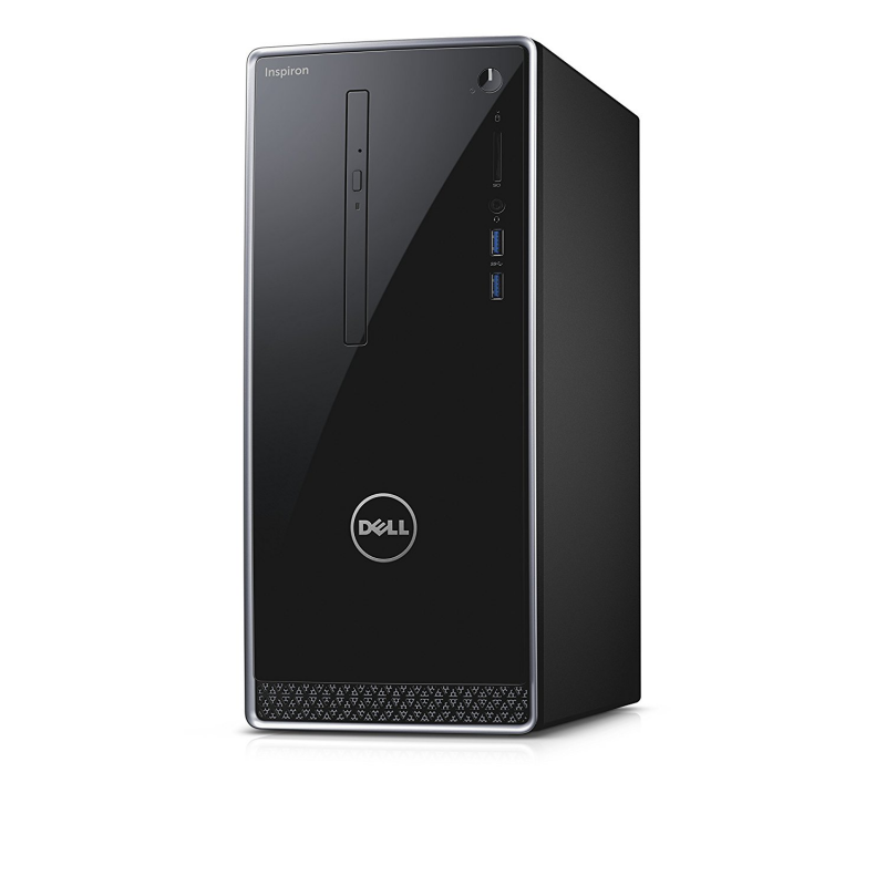 Dell Inspiron i3668 Tower Desktop Black with Silver Trim